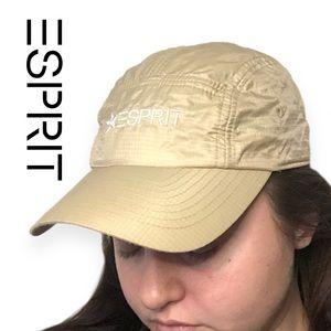 VTG 90s Esprit Nylon Dad Hat in Cool Tan